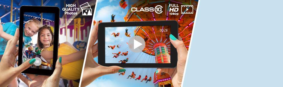 Ruckelfreie Aufnahme und Wiedergabe von Videos in Full HD - SanDisk Ultra microSDXC