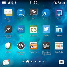 Quadratisch und hochauflösend: der Touchscreen - RIM Blackberry Classic Q20