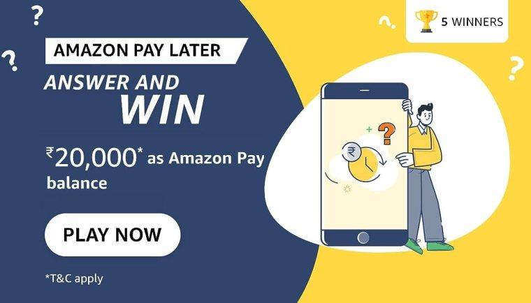Amazon Pay Later Quiz