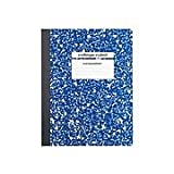 Staples Composition Notebook, 9.75' x 7.5', College Ruled, 100 Sheets (Blue)