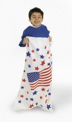 6 pcs USA FLAG/PATRIOTIC Potato SACK RACE GAME/Red White Blue/4th of JULY PARTY GAME