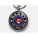 "Superman Blue Custom pet ID Tag dog tag cat pet tag (Small 1"")"