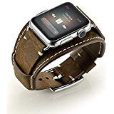 LoveBlue Compatible with Apple Watch Band 44mm 42mm, iwatch Genuine Leather Band Replacement Strap