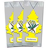 LITTLE TREES Car Air Freshener   Hanging Paper Tree for Home or Car   Vanillaroma   3 Pack