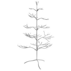 Tripar Metal Ornament Display Tree and Jewelry Organizer - 36' Wire Ornament Stand and Necklace Holder Décor with 5 Tiers of Branches, Perfect for Wrought Iron Trees Silver