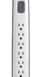 Belkin 6-Outlet Surge Protector with 2.5-Feet Power Cord, BV106000-2.5