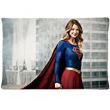 SolfTop Custom SUPERGIRL ACTRESS MELISSA BENOIST Pillowcase 20x30 Rectangle Soft Cotton Pillow Case Pattern Printed -Perfect Personalized Gift