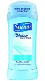 Suave 24- Hour Protection Fresh Invisible Solid Anti-Perspirant/Deodorant, 2.6oz