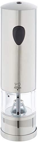 Peugeot 23232 Elis Electric 8 Inch Rechargeable U'Select Salt Mill, Stainless Steel