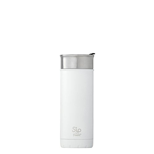 S'well Stainless Steel Travel Mug, 16 oz, Flat White
