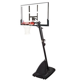 Spalding Pro Slam Portable NBA 54' Angled Pole Backboard Basketball System (Black)