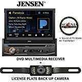 Jensen VX3518 DVD Receiver and License Plate Backup Camera and a SOTS Air Freshener