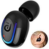 Bluetooth Headset, Kissral Wireless Sport Earbuds 10 Hours Talking Time with HD Microphone and Noise Cancellation for iPhone Samsung and Others (Black)