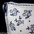 Lauren Ralph Lauren Cote D'azure Throw Pillow ,White Blue Linen Toile Decorator Pillow