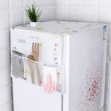 21Xzc2RrSDL SVK Dream Home Transparent Printing Waterproof Cloth dust Cover Household Refrigerator Cover Towel Hanging Storage Bag Flamingo 130 X 55cm in White Color (Color May Vary)