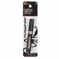 L'Oreal Paris Infallible Never Fail Liquid Eyeliner, Black [700] 0.084 oz (Pack of 2)