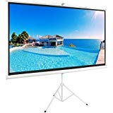 ShowMaven 100' 16:9 HD Adjustable Tripod Projector Projection Screen Pull Up Foldable Stand