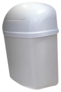 Camco Cabinet Mount Trashcan- Mountable Trash Bin For Cabinet Doors and Tight Places, Won't Move Out of Place During Travel, Perfect For RVs, Campers, and More 3 Qt, 5' x 11' (43961)