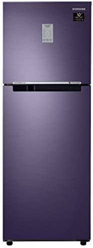 Samsung 253L 2 Star Inverter Frost Free Double Door Refrigerator (RT28T3782UT/HL, Pebble Blue, Convertible)