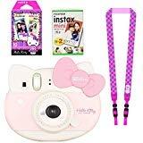 Fujifilm Instax Mini 'Hello Kitty' Instant Camera Set with Instax Mini Film, Include Twin Pack (20 Shoots) ,Hello Kitty Film (10 Shoots), Shoulder Strap