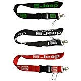 Set 3pcs Jeep Auto Lanyard Workout Gear Office And Auto Car Keychain Accessories Motorbike Superbike Lanyard With Webbing Strap Quick Release Buckle