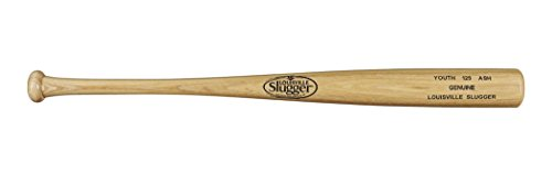 Louisville Slugger Youth 125 Ash Genuine Unfinished Baseball Bat, 30 inch/27 oz, Flame/Natural