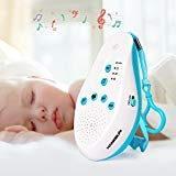 Hangsun White Noise Sound Machine for Baby Sleeping ST50 Sleep Soother Generator with 5 Soothing Aid Therapy Sounds, Voice Sensor, Portable Integrated Clip for Travel and Home Use