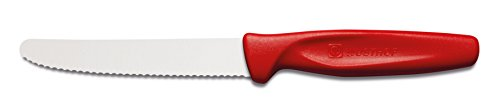 Wusthof ZEST 4' Serrated Paring Knife, Red