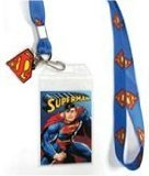 Bioworld Superman Logo Lanyard W/ Rubber Charm