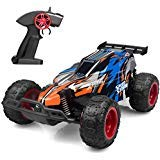 JEYPOD IMDEN 51654194589 Remote Control Car, 2.4 GHZ 1: 22 High Speed Racing Car with Four Batteries( Two Rechargeable Batteries for Car, Two 1.5Aa Batteries for Transmitter), Kids Toys, Blue