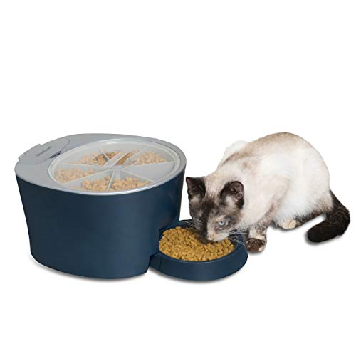 PetSafe Six Meal Automatic Pet Feeder, Dispenses Cat and Dog Food, Battery Powered Digital Clock, LCD Screen Display 1