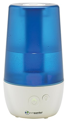 PureGuardian H965 Ultrasonic Cool Mist Humidifier for Bedrooms, Baby Nursery, Quiet, Filter-Free, 1 Gal Tank, 70 hr, Treated Tank Surface Resists Mold, Pure Guardian Humidifier with Essential Oil Tray
