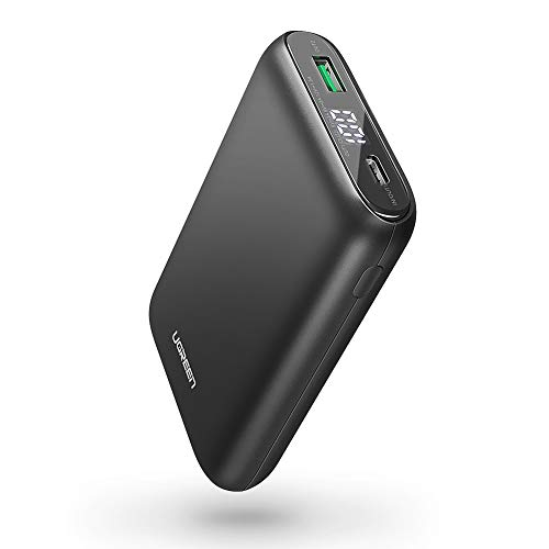 UGREEN Portable Charger 10000mAh PD 18W USB C Power Bank Power Delivery 3.0 Battery Pack QC 3.0 Fast Charge with LED for iPhone XR XS X 8, iPad, Nintendo Switch, Samsung, LG, More Phones and Tablets