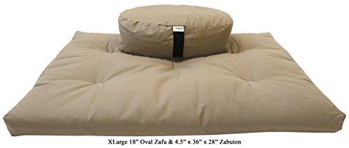 Bean Products CAMEL Oval Zafu + Zabuton Meditation Cushion Set