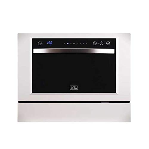 BLACK+DECKER BCD6W Compact Dishwasher, 6 Place Settings