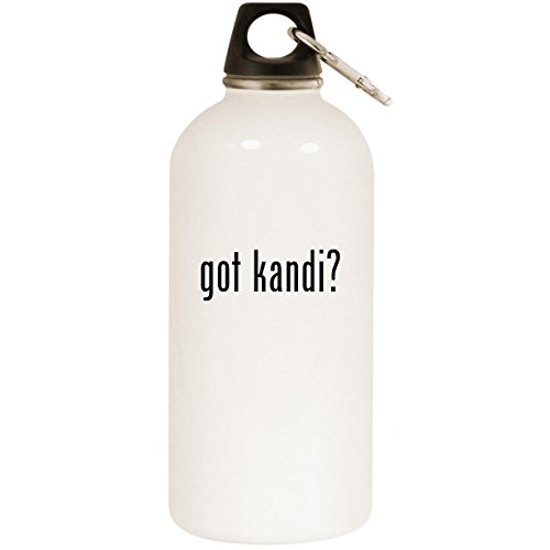 Molandra Products got Kandi? - White 20oz Stainless Steel Water Bottle with Carabiner