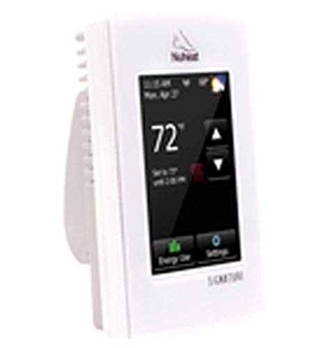 Nuheat SIGNATURE Programmable Dual-Voltage Thermostat with WiFi and Touchscreen Interface, Works with NEST