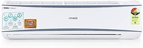 Croma 1.5 Ton 3 Star Split AC (Copper, CRAC7722, White) with Free Installation…