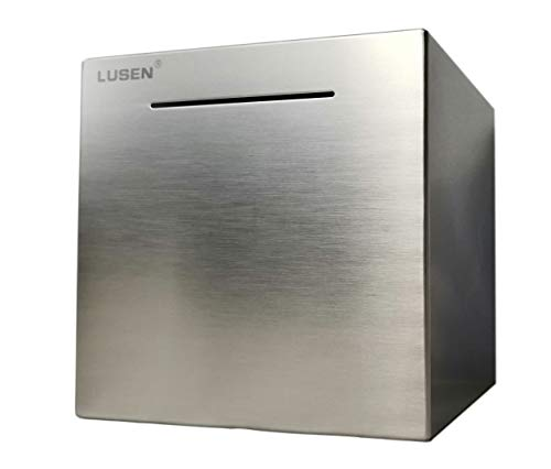 LUSEN Safe Piggy Bank Made of Stainless...