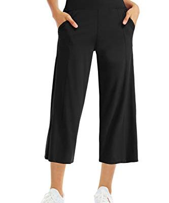 Wide leg capri yoga pants