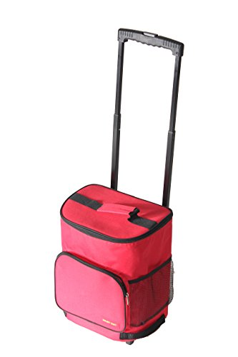 dbest products Ultra Compact Smart Cart,Red Insulated Cooler