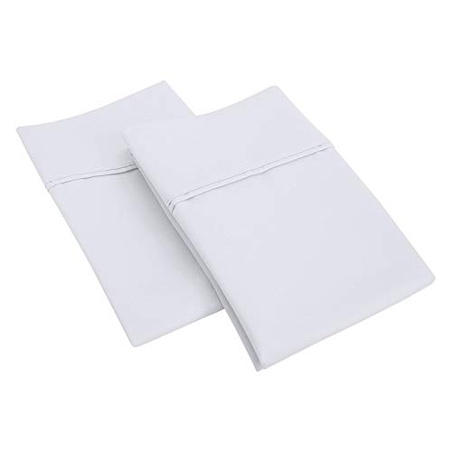 SGI bedding 600 Thread Count 100% Egyptian Cotton 21x56 Body Pillow Cover White Solid (1 Piece)