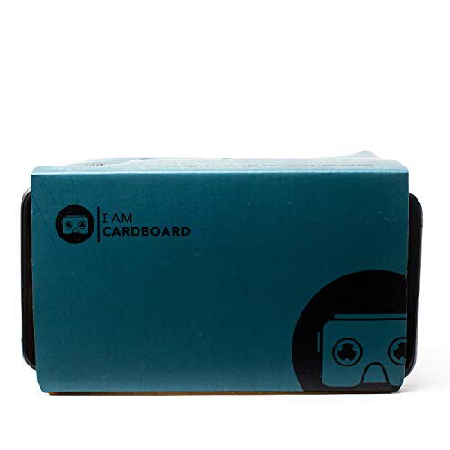 I Am Cardboard VR Box | The Best Google Cardboard Virtual Reality Viewer for iPhone and Android | Google Cardboard v2 Headset Inspired | Small and Unique Travel Gift Under 20 Dollars (Blue)