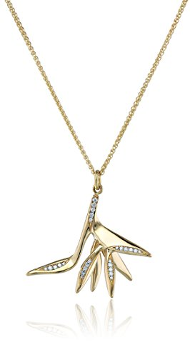 310cfHgdv6L Items that are handmade may vary in size, shape and color 18k Yellow Gold Bird of Paradise Pendant (0.07 tct, F-G Color, VS1-VS2 Clarity)