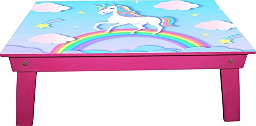 Red-Rabbit™ Kids Foldable Eating and Study, Multipurpose Bed Table, Kids Table, Study Table, Laptop Table (Unicorn Rainbow) 91