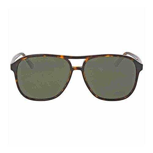 95553897bdb Gucci 0016S 007 Havana 0016S Round Sunglasses Polarised Lens Category 3 Size  58