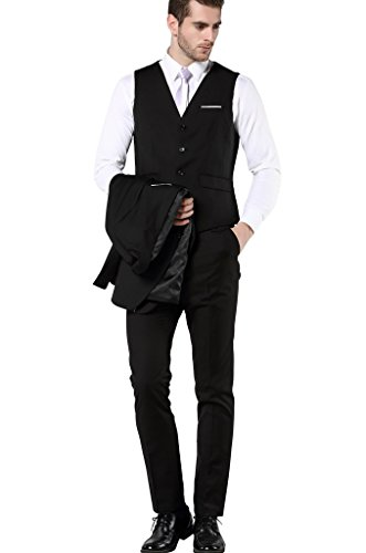 724a8f709faf MOGU Men's Slim Fit 3 Piece Dress Suits Prom Dress Suit Set - Wedding