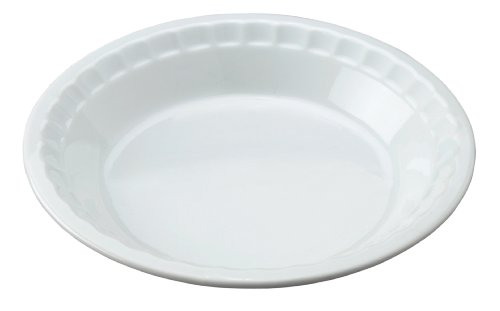 HIC Harold Import Co. 98033 HIC Pie Plate Baking Dish, 10.5-Inch, White