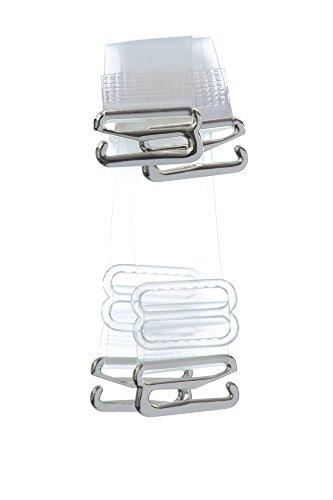 Divas Bra Straps Women's Invisible Clear Replacement Transparent, Multiple width ... (8mm Regular, Clear)