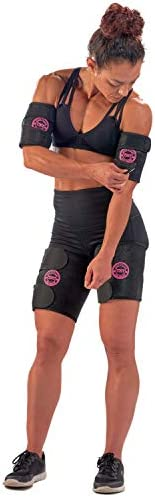 Arn Trimmers & Thigh Trimmer for Women & Men (4-Pack) - Increases Heat & Sweat Production - Sweat Band, Shaper & Slimmer - Arm & Thigh Toner Bands for Workout - Sweat Belt & Body Wraps for Weight Loss 8